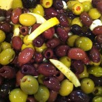 Delicious and easy marinated olives with garlic and lemon