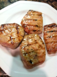 Pork chops and brown sugar