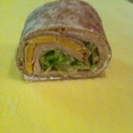 Turkey and cheese roll up