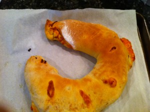 Stromboli with pepperoni