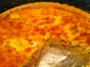 easy ham and cheddar quiche recipe