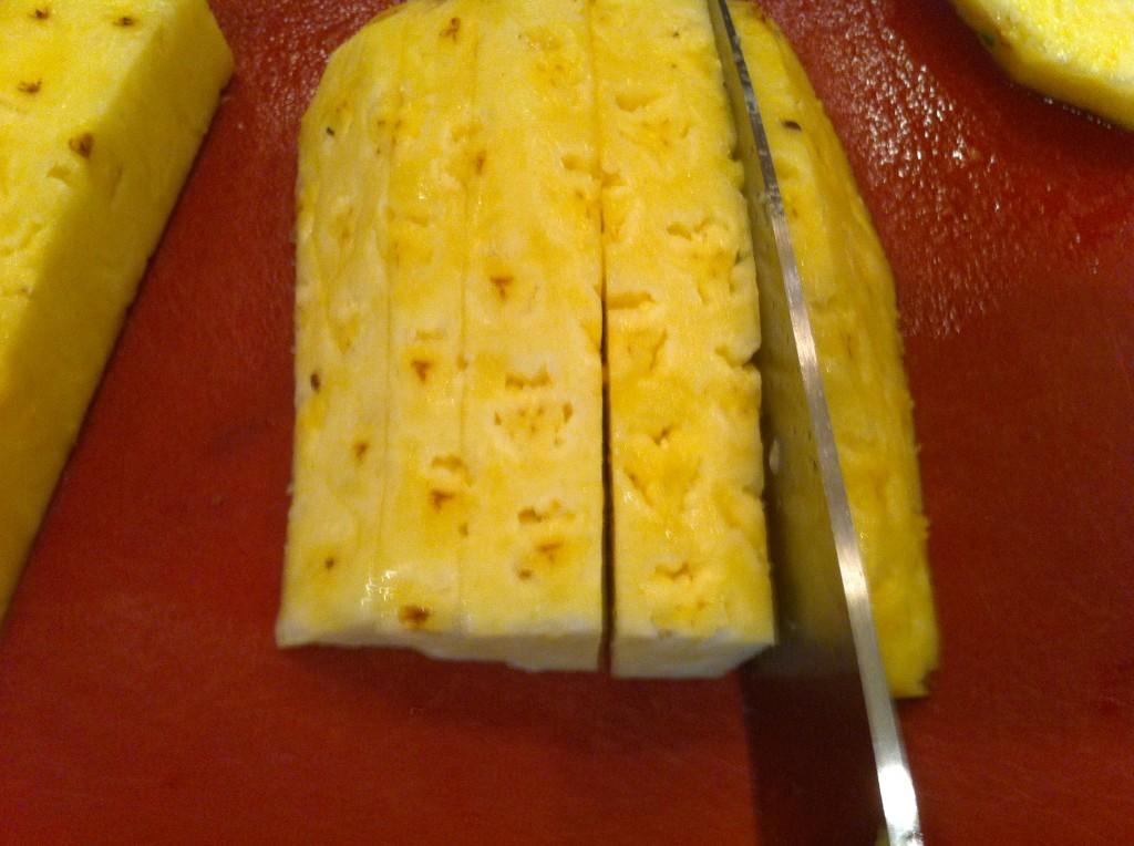 Preparing a pineapple