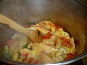 Making Artichoke Soup