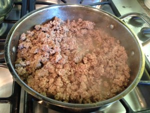 Frying Ground Beef