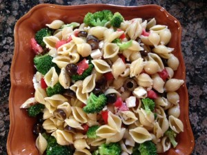 Pasta Salad with Champagne Vinaigrette