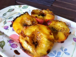 grilled peaches with balsamic