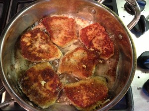 Pork Chops with Parmesan Sage Crust