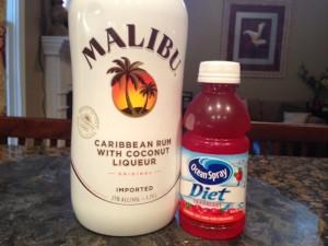 Malibu Rum and Cranberry