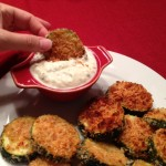 Zucchini Crisps with Basil Dipping Sauce