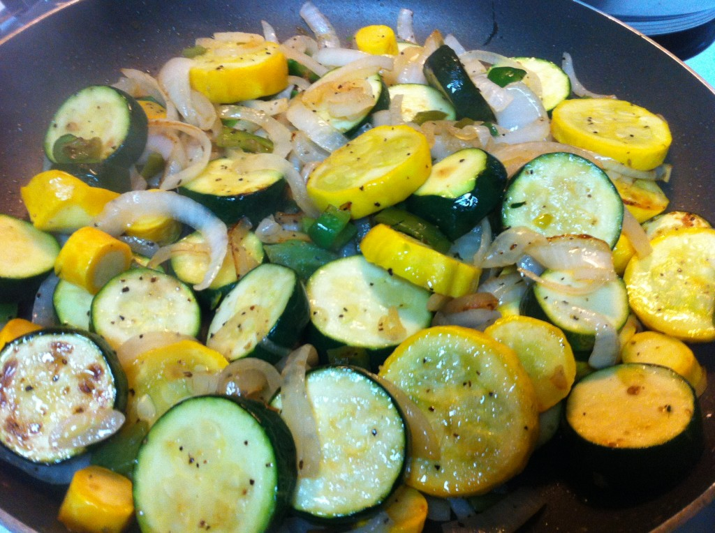 saute summer squash and zuchhini