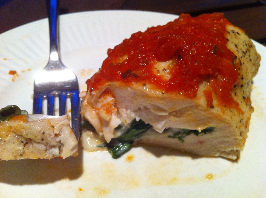 chicken breast stuffed with feta, basil and parsley