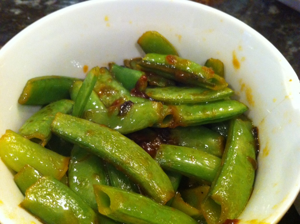 sugar snap peas in stir fry