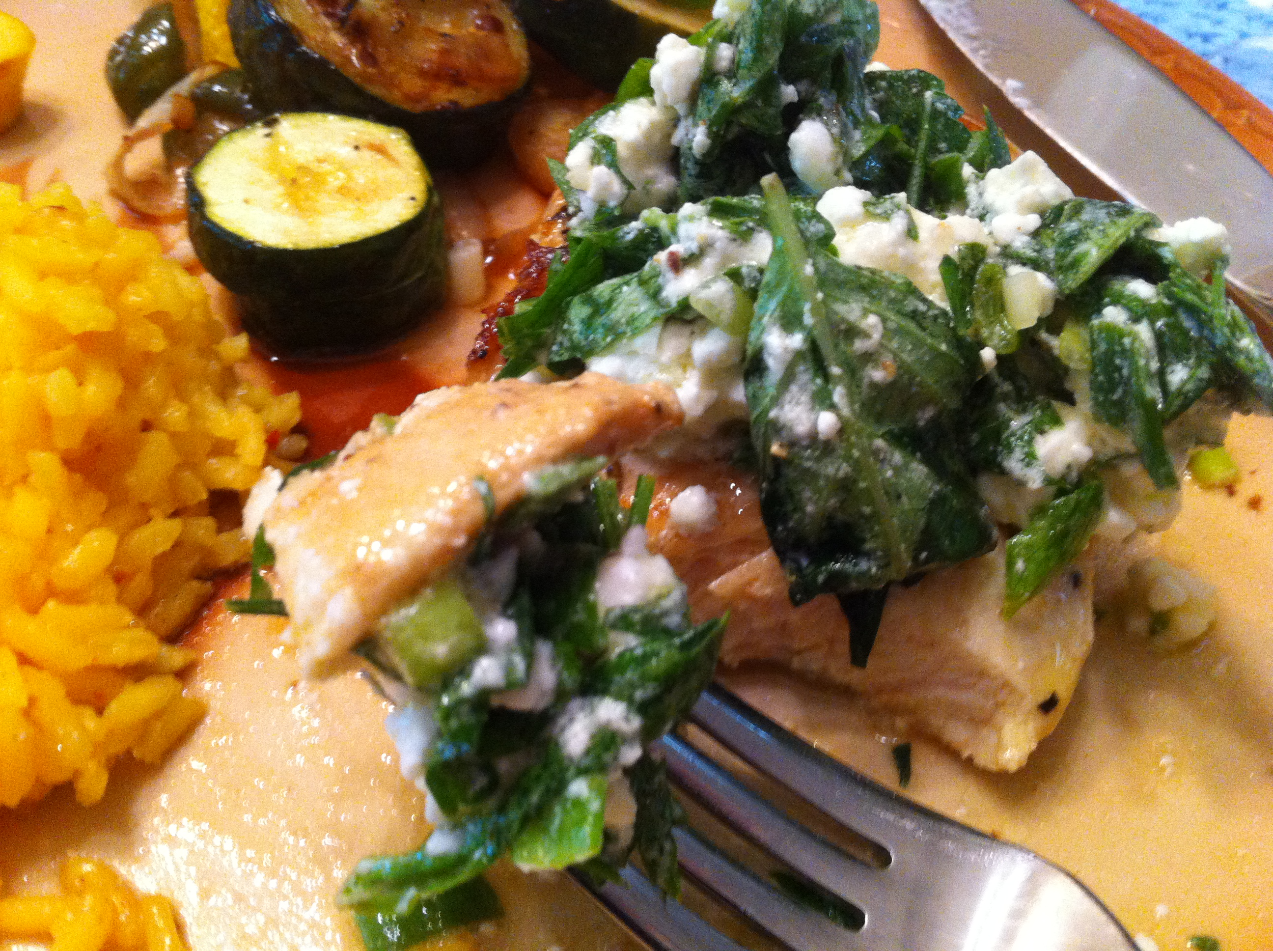 Throwback Thursday – Lemon Thyme Chicken with Feta Herb Salad