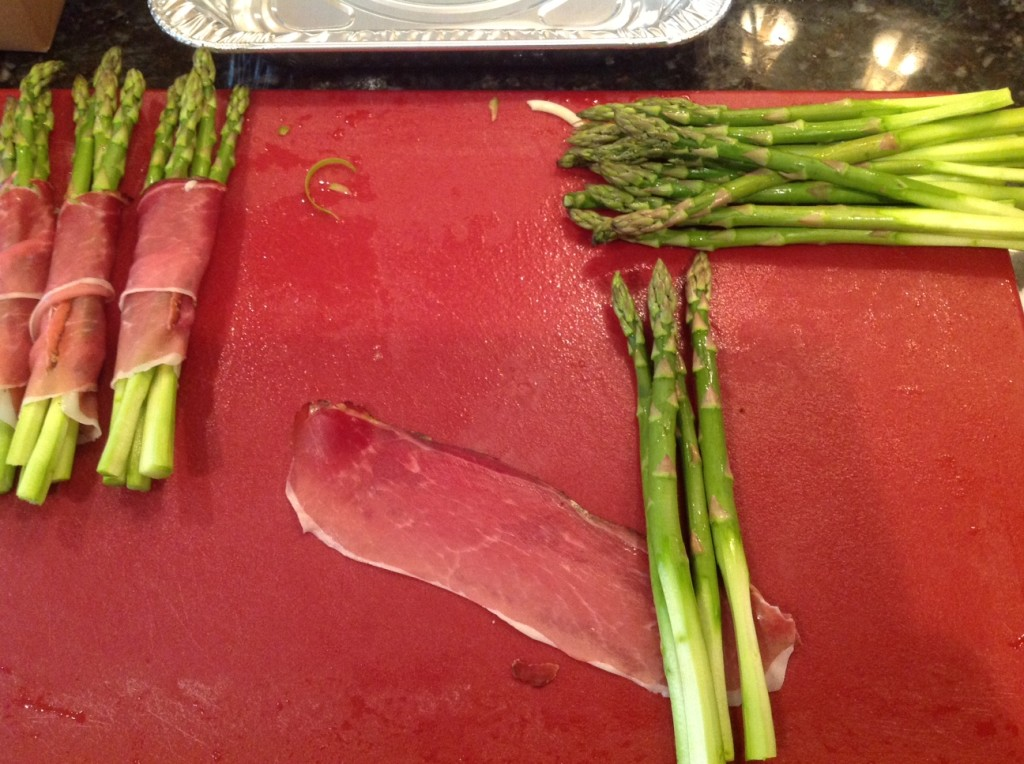asparagus with speck and parmigiano reggiano