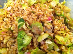 Brussels Sprouts Salad with Farro