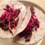 Brisket Tacos with Red Cabbage